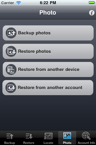 IDrive Photo Backup