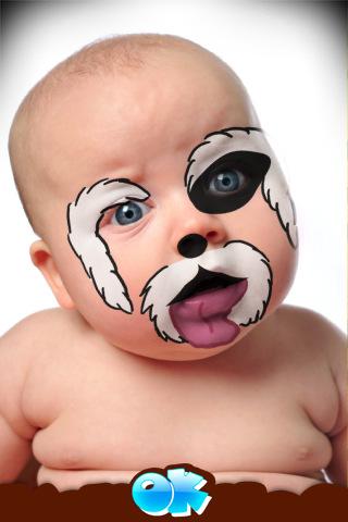 رسومات على الوجوه للاطفال بأشكال خرافية