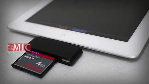 قارئ بطاقات الكاميرات للايباد
