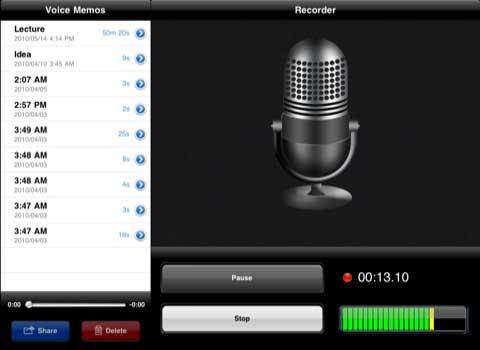Voice Memos for iPad