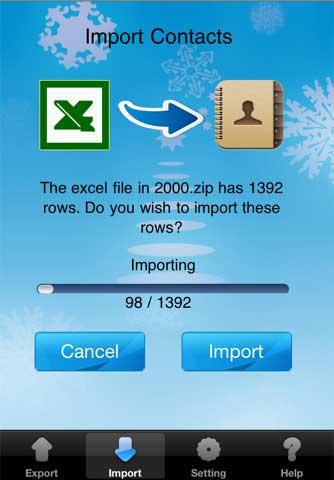 تطبيق ExcelContacts