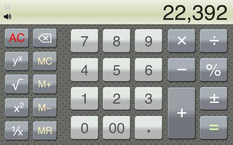 Calculator Silver Lite