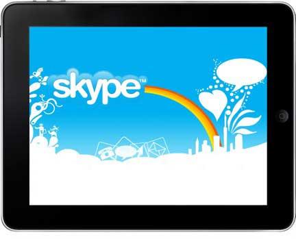 برنامج Skype في طريقه الى الايباد
