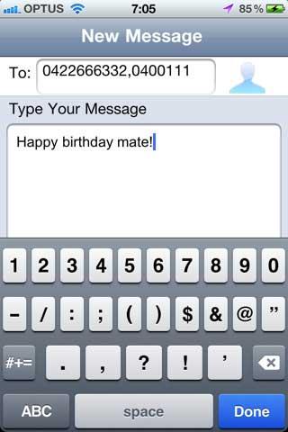 تطبيق SMS Later