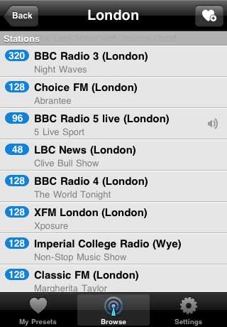تطبيق Tune In Radio