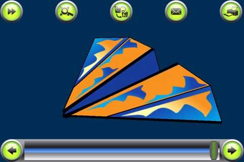 تطبيق Origami Airplane Folds In 3D