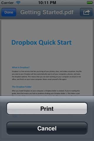 تطبيق QuickPrint