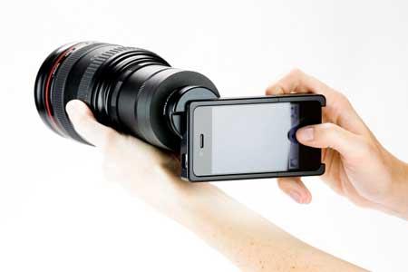 إكسسوار جديد يحول الايفون الى كاميرا احترافية