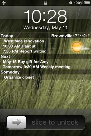Lock Screen- شاشة إقفال للجهاز تحمل المعلومات