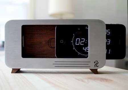 مشروع جديد للأيفون - منصة تجعله ساعة ثابتة
