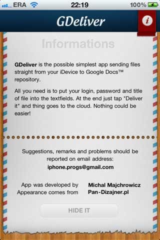 GDeliver Free – وسيلة لحفظ المستندات في الايفون