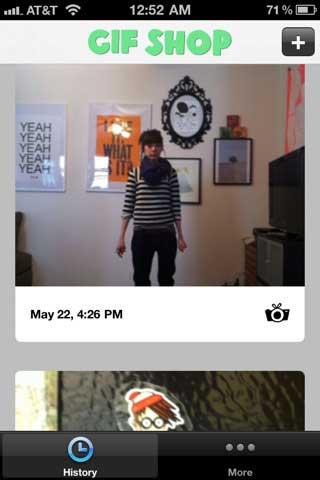 تطبيق الصورة المتحركة - GIF SHOP