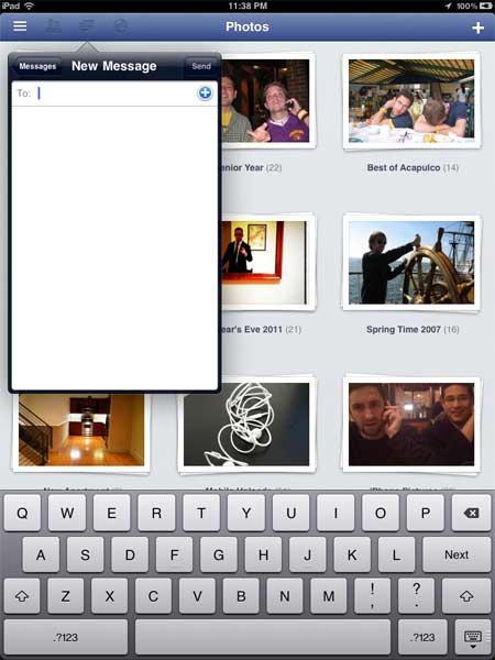 تطبيق فيسبوك يصل الى جهاز الايباد متخفيا(techcrunch)