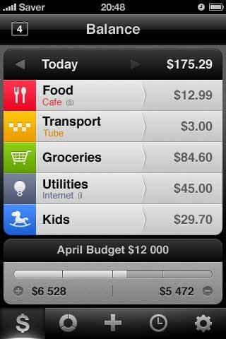 تطبيق Saver – لتنظيم مصروفاتك