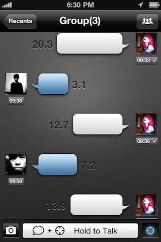 تطبيق Talk Box للمسجات الصوتية