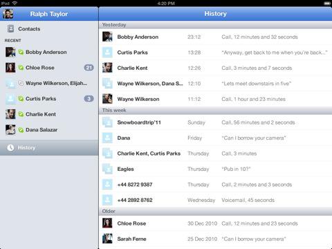 ظهور نسخة من برنامج Skype لجهاز الايباد