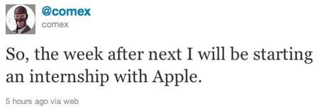 Comex يعلن عن إنتقاله الى أبل عبر تويتر