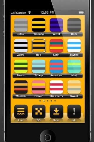 تطبيق لتصميم خلفيات لشاشة الايفون