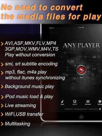 تطبيق AnyPlayerHD
