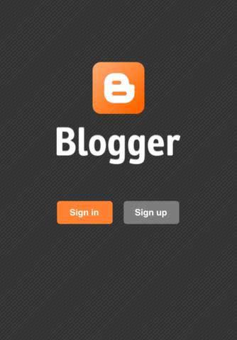 تطبيق Blogger