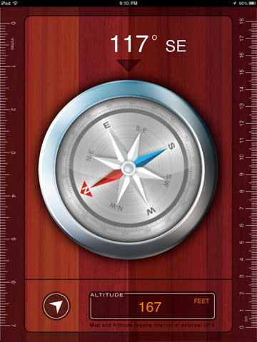 تطبيق البوصلة العملاقة Gigantic Compass