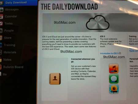 انطلاق حملة الإرشاد بعمل iOS 5 في متاجر شركة أبل