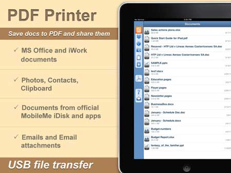 تطبيق PDF Printer for iPad
