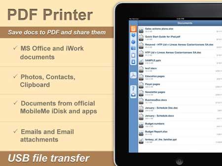 تطبيق PDF Printer for iPad