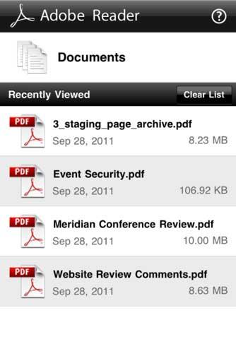 تطبيق Adobe Reader