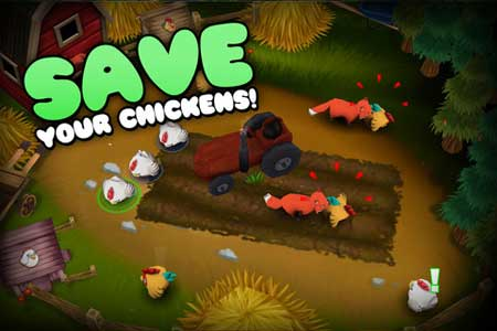 لعبة الدجاجات الهاربة