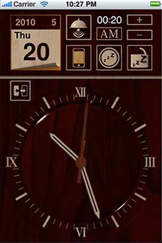 تطبيق الساعة الخشبية