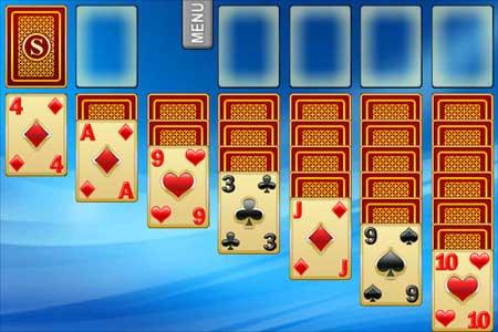 لعبة الورق الشهيرة Solitaire