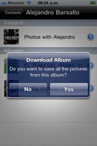 تطبيق FBPhotoGrabber