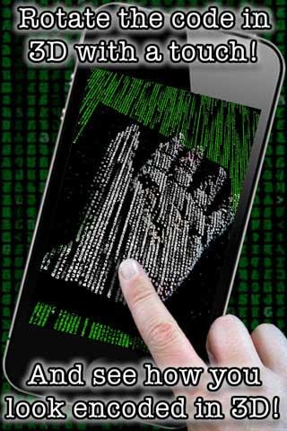 تطبيق لتشفير الصور على طريقة Matrix