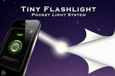 تطبيق Tiny Flashlight