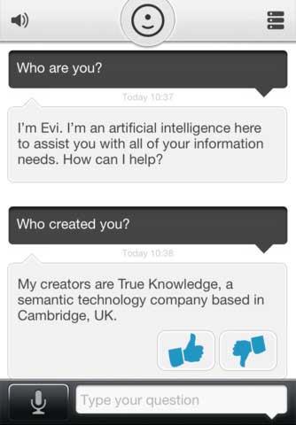 تطبيق Evi