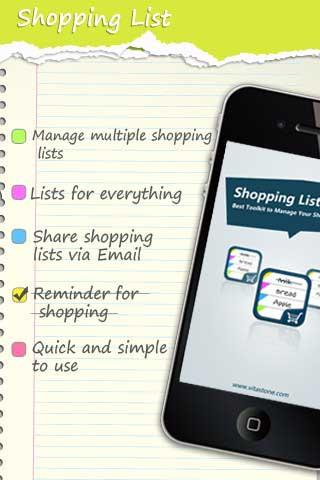 تطبيق لائحة المشتريات – مجاني لوقت محدود