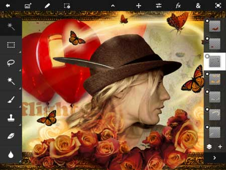 تطبيق Adobe Photoshop Touch