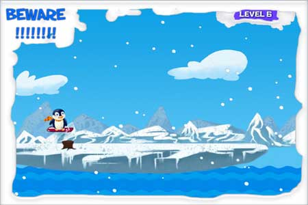 لعبة Icy Sliding Penguin