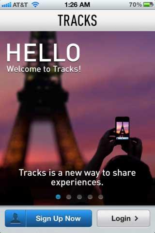 تطبيق Tracks