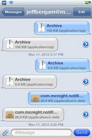 السيديا: قريبا أداتان لإرسال وتلقي كل أنواع الملفات عبر iMessage