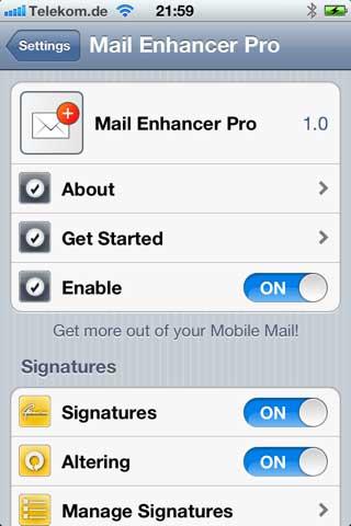 اداة Mail Enhancer Pro
