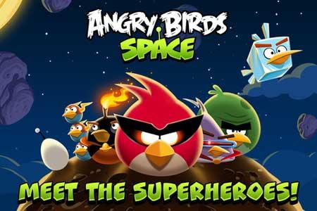 """لعبة """"العصافير الغاضبة في الفضاء"""""""