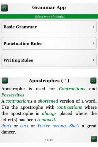 تطبيق Grammar App by Tap To Learn