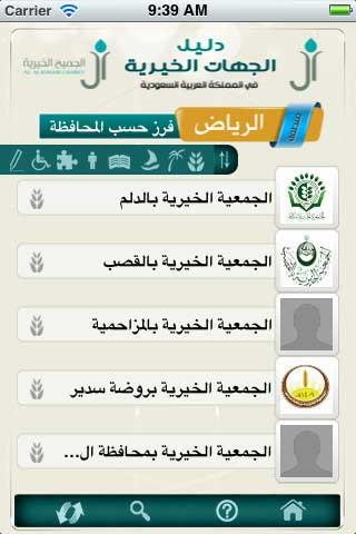 تطبيق دليل الجهات الخيرية في السعودية