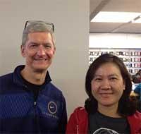 Photo of تيم كوك يزور الصين حاملا معه الايباد الجديد