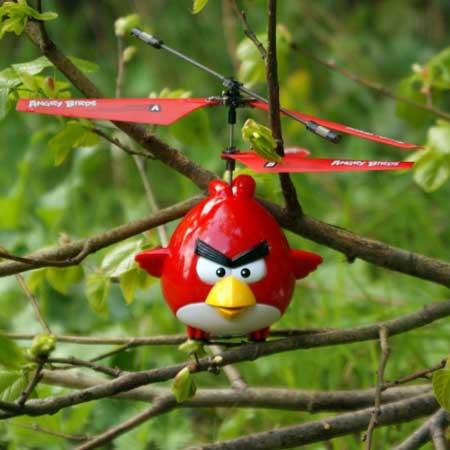العصافير الغاضبة تتحول الى مروحية هيلكوبتر