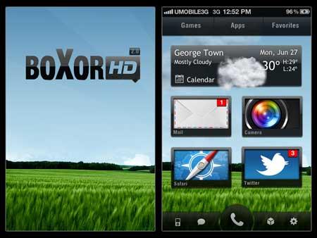 ثيم Boxor HD – خاص للأيفون بمزايا رائعة