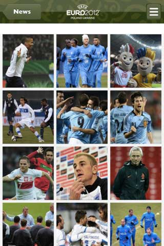 تطبيق Official UEFA EURO 2012 app