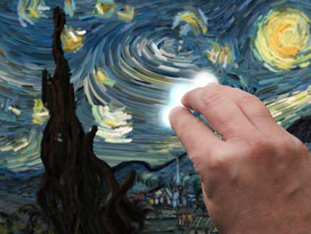 تطبيق Starry Night Interactive Animation